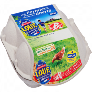 4 gros oeufs Label Rouge LOUE