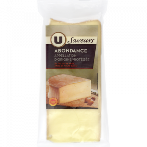 Abondance AOP au lait cru U SAVEURS, 33%MG, 250g
