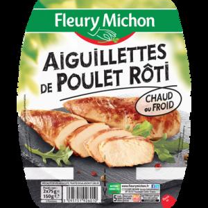 Aiguillettes de poulet grillé FLEURY MICHON, 2x75g soit 150g