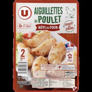 Aiguillettes de poulet rôti au four U, 160g