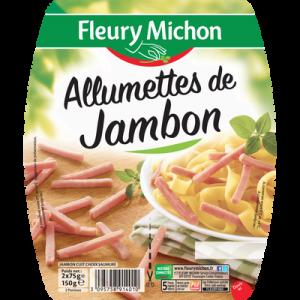 Allumettes de jambon FLEURY MICHON, 2x75g