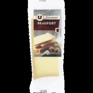 Beaufort AOP au lait cru U SAVEURS, 33%MG, 250g