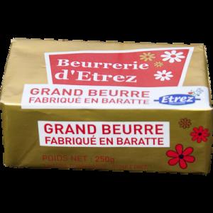 Beurre de Baratte extra fin ETREZ, 82%MG, 250g