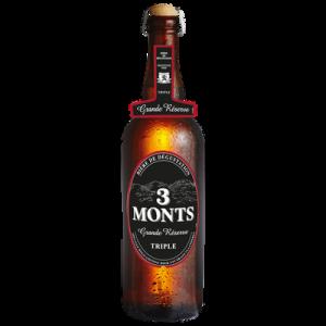 Bière blonde 9.5° Grande réserve TROIS MONTS, bouteille de 75cl
