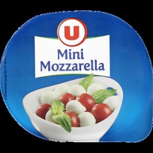 Billes de mozzarella au lait de vache pasteurisé U, 17% de MG, 125g
