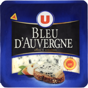 Bleu d'Auvergne AOP au lait thermisé 26% de MG, U, 125g