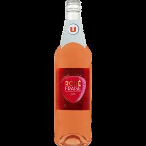 Boisson aromatisée à base de vin saveur fraise 7,5% vol.75cl