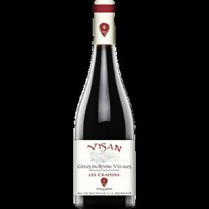 Côtes du Rhône rouge AOP visan les Crapons, bouteille de 75cl