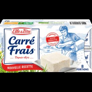 CARRE FRAIS au lait pasteurisé, 15%MG, 8 portions, ELLE ET VIRE, 200g