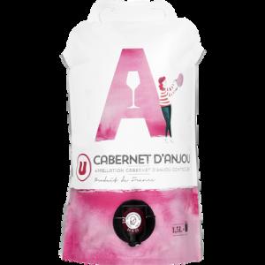 Cabernet d'anjou AOP rosé Pouch U 1,5l