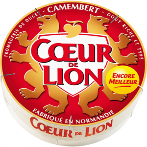 Camembert au lait pasteurisé COEUR DE LION, 21%MG, boîte de 250g