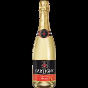 Cocktail sans alcool pétillant à la pêche D'ARTIGNY, bouteille de 75cl