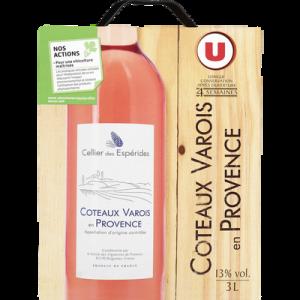 Coteaux du Varois Provence AOC rosé Celliers Des Espérides U, fontaineà vin, 3L