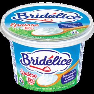 Crème fraîche épaisse légère BRIDELICE, 15%MG, 10cl