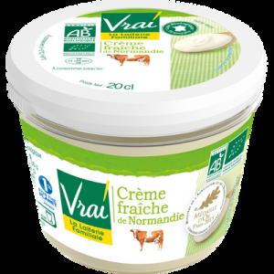 Crème fraîche bio de Normandie VRAI, 38%MG, 20cl