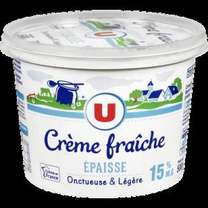 Crème fraiche épaisse légère U, 15%mg ,50cl
