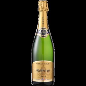 Crémant brut AOP d'Alsace WOLFBERGER, bouteille de 75cl