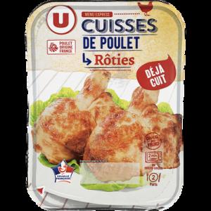 Cuisse de poulet rôtie, U, barquette, 370g