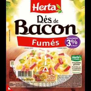 Dés de bacon, HERTA, 200g