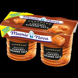 Dessert lacté caramel beurre salé Gourmand MAMIE NOVA 2x150g