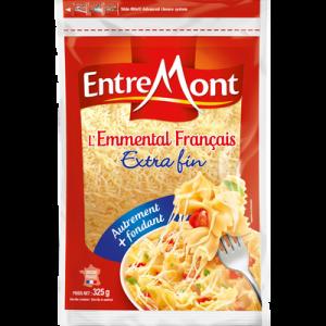 Emmental râpé lait thermisé francais ENTREMONT, 29% de MG, 300g