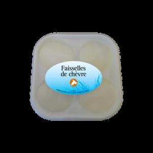 Faisselle de chèvre au lait cru CHEVENET, 12%MG, barquette de 4x100g