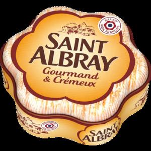 Fromage à pâte molle à la crème au lait pasteurisé ST ALBRAY, 33% de MG, 200g