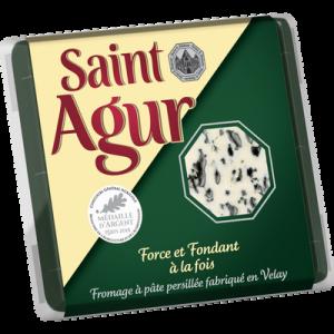 Fromage à pâte persillée au lait pasteurisé SAINT AGUR, 33% de MG, 135g