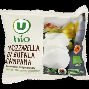Fromage AOP Mozzarella di bufala campana biologique U BIO, 27% de MG,125g
