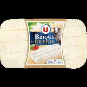 Fromage au lait de brebis pasteurisé U, 25% de MG, brique de 150g