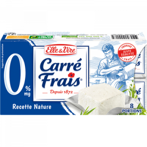 Fromage au lait pasteurisé CARRE FRAIS, 0%MG, 8 portions, 200g