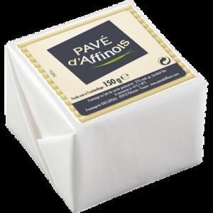 Fromage au lait pasteurisé PAVE D'AFFINOIS, 21% de MG, 150g