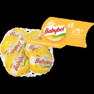 Fromage au lait pasteurisé emmental MINI BABYBEL, 23% de MG, 6 portions, 120g