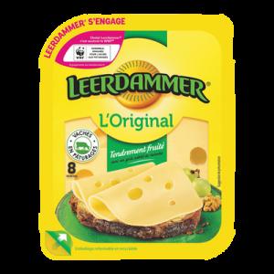Fromage au lait pasteurisé en tranches LEERDAMMER, 27,5%MG, x8, 200g