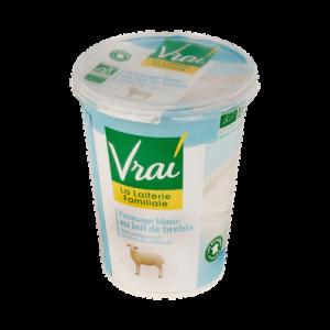 Fromage blanc de brebis au lait pasteurisé BIO VRAI, pot de 400g