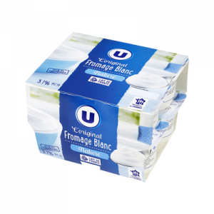 Fromage frais au lait pasteurisé nature 3,2% de MG, U, 8x90g