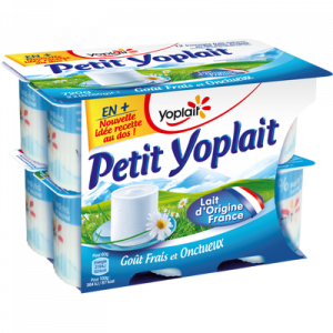 Fromage frais pasteurisé nature 3,8% de MG, Petit YOPLAIT, 12x60g