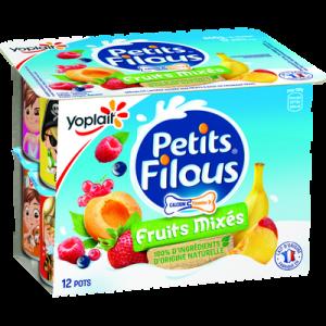 Fromage frais sucré aux fruits FILOUS YOPLAIT, 12x50g, 600g