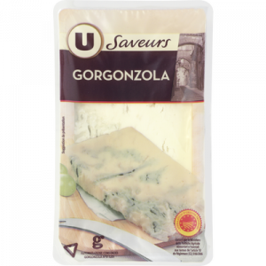 Gorgonzola AOP au lait pasteurisé U SAVEURS, 27% de MG, 150g