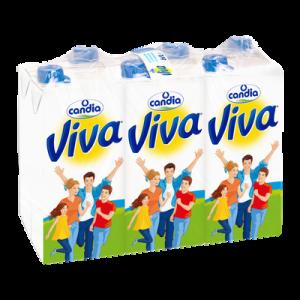 Lait demi-écrémé UHT VIVA, 6x1l