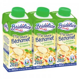 Sauce Béchamel UHT BRIDELICE, 3x20cl