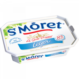 Spécialité fromagère nature pasteurisé Ligne et Plaisir ST MORET, 8%mg, 150g