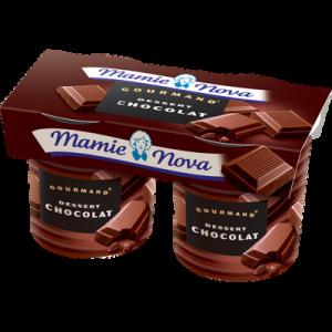 Spécialité lactée au chocolat Gourmand MAMIE NOVA, 2x150