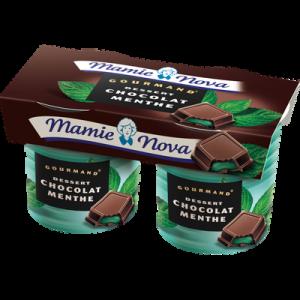 Spécialité lactée chocolat menthe dessert Gourmand MAMIE NOVA, 2x150g