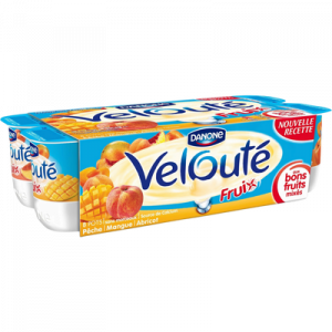 Spécialité laitière sucrée aux fruits jaunes mixés velouté fruix DANONE, 8x125g