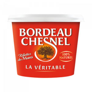 Véritable rillettes du Mans pur porc BORDEAU CHESNEL, pot de 220g
