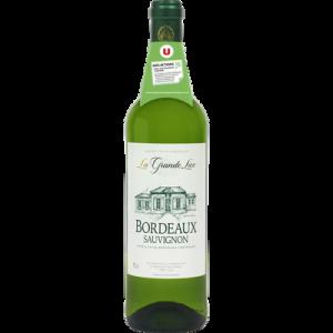 Vin blanc AOC Bordeaux Sauvignon La grande Lice U, 75cl