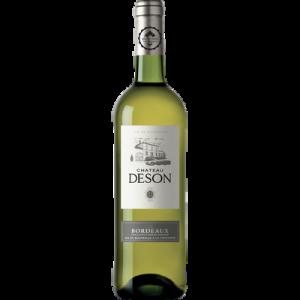 Vin blanc AOP Bordeaux sec Château DESON, bouteille de 75cl