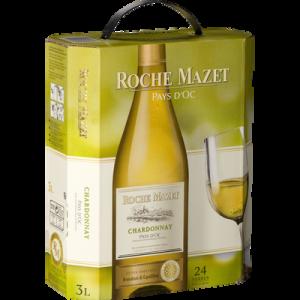 Vin blanc de pays d'Oc Chardonnay ROCHE MAZET, 3l