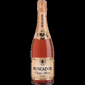 Vin mousseux rosé doux MUSCADOR, 75 cl